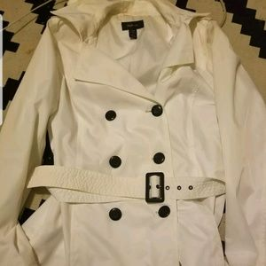 Womens white peacoat